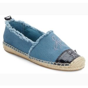 Sam Edelman denim Lauren Mixed-media Espadrilles